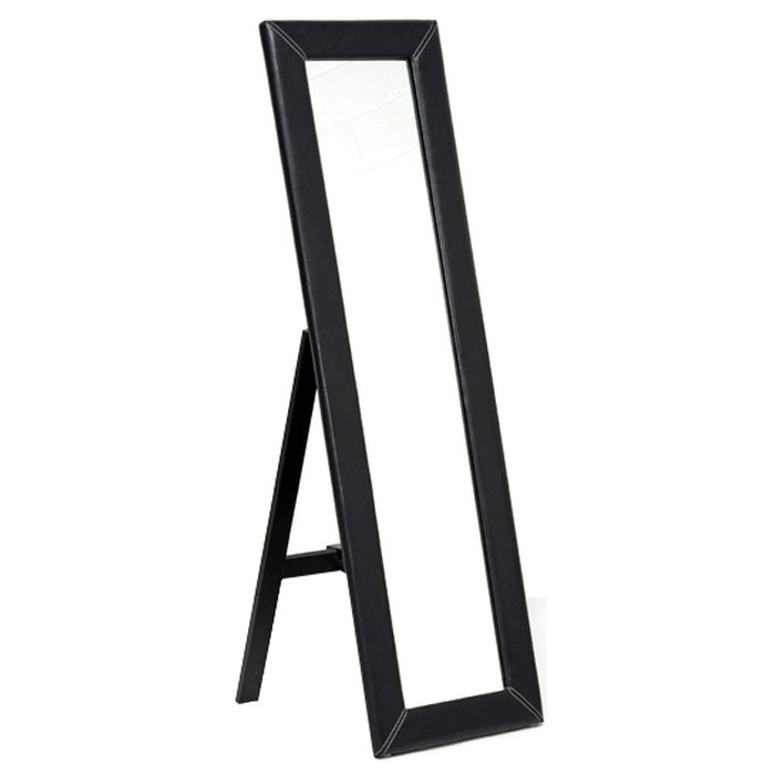 McLean Dark Brown Mirror with Built-In Stand
