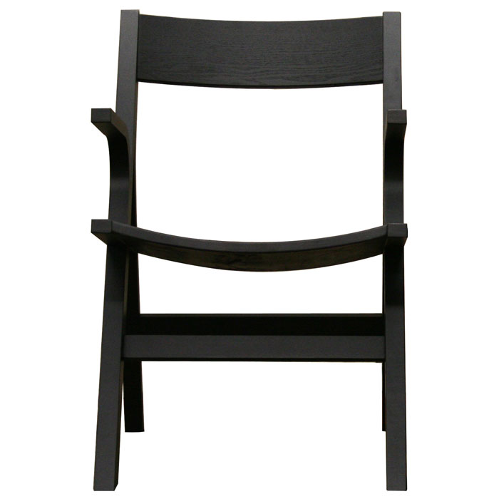 Nes Wooden Arm Chair in Black