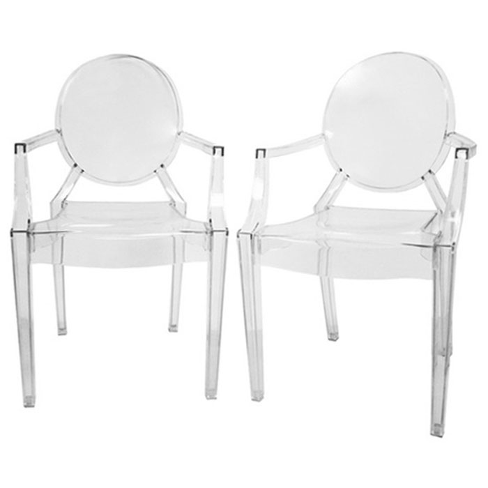 Dreama Modern Acrylic Armed Ghost Chair