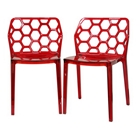 Honeycomb Stackable Acrylic Dining Chair