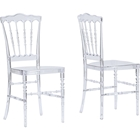 Crystal Plastic Dining Chair - Clear (Set of 2)