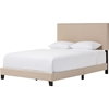 Ramon Upholstered Queen Bed - Nailheads, Beige