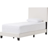 Ramon Faux Leather Twin Bed - White