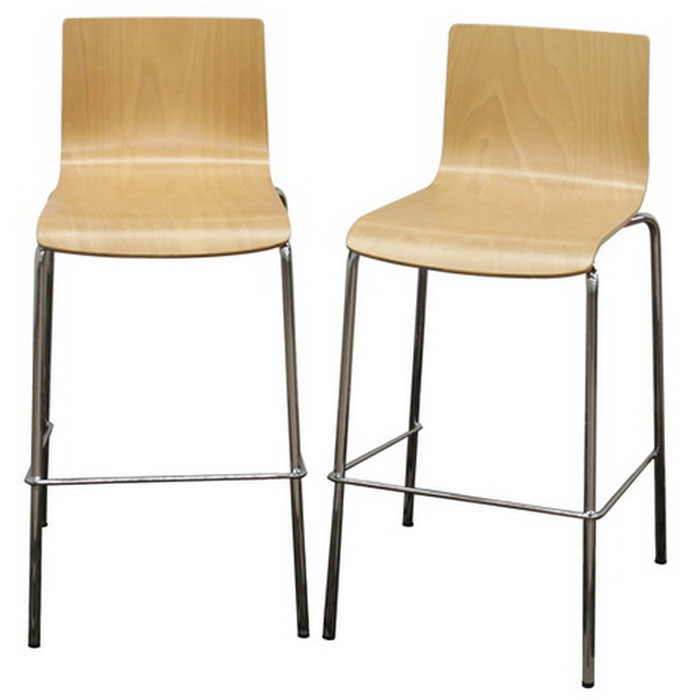 "Ritz 29"" Stackable Molded Plywood Bar Stool (Set of 2) - WI-RITZ-BS"