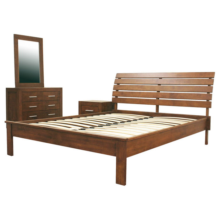 Robin 4-Piece Bedroom Set in Cocoa - WI-ROBBIN-4PC