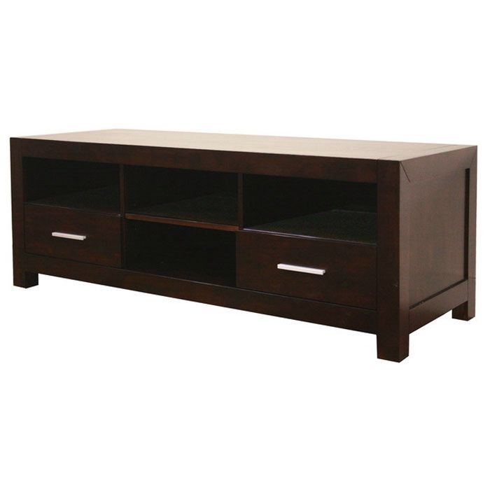 Robbin Dark Brown Wood Media Stand
