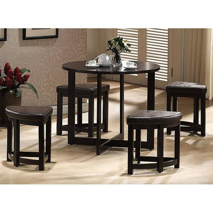 Rochester Brown Bar Table with Nesting Stools