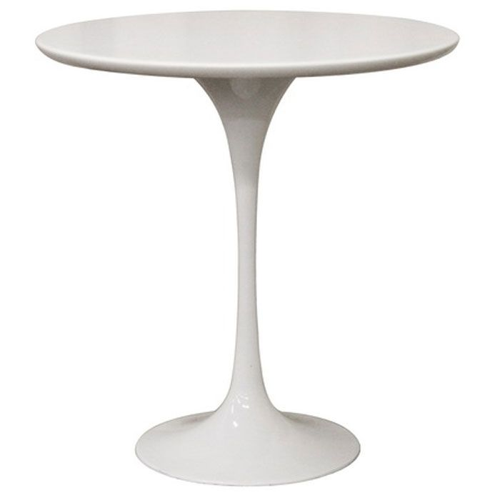 Immer White Mid-Century Style End Table - WI-RT-335-X