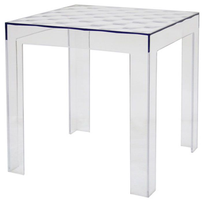 Parq Clear Acrylic Modern End Table (Set of 2)