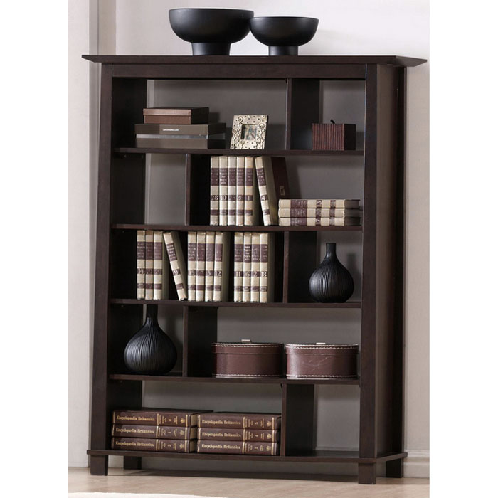 Havana Brown Wood Modern Bookcase - Tall - WI-RT157D-OCC-H