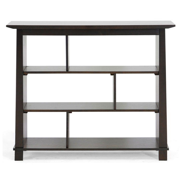 Havana Brown Wood Modern Bookcase - Short