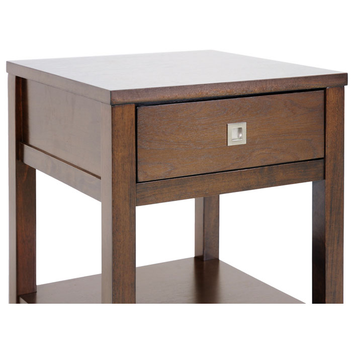 New Jersey Brown Wood End Table - WI-RT169B-OCC