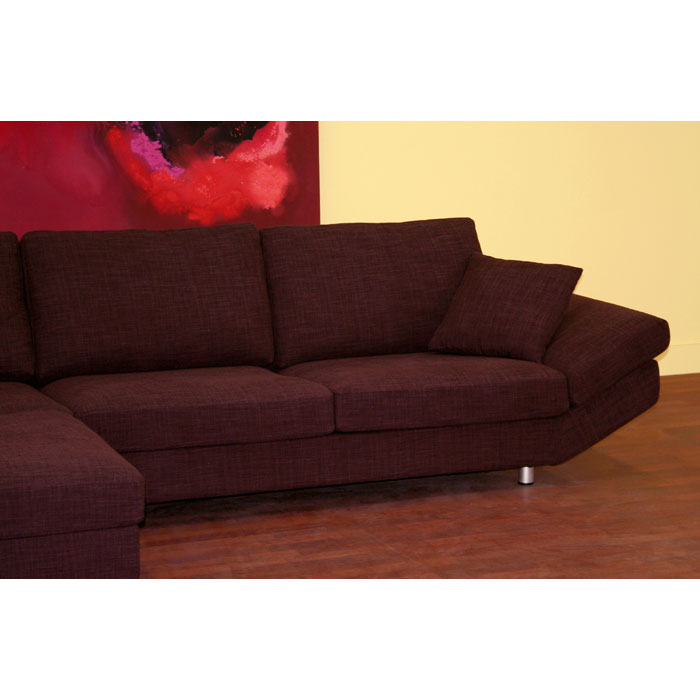 Natalie Deep Plum Fabric Sectional and Chaise - WI-S-610