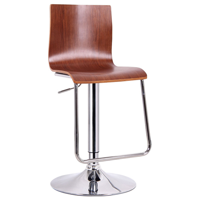 Lynch Swivel Bar Stool - Molded Plywood, Walnut Veneer