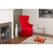 Conundrum Contemporary Armchair - Red Fabric, White Plastic - WI-SF-S011-S-RED