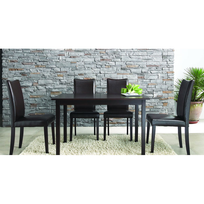 Berreman Dark Brown 5 Piece Modern Dining Set