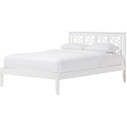 Celine Geometric Pattern Full Platform Bed - White