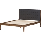 Clifford Platform Bed - Grid-Tufting Headboard