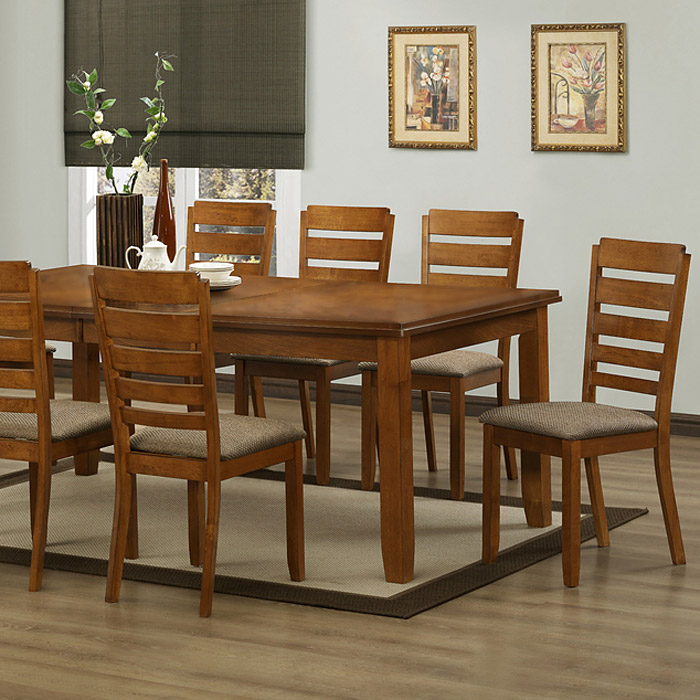 Taylor 7-Piece Dining Set - Extension Table, Ladder Back Chairs