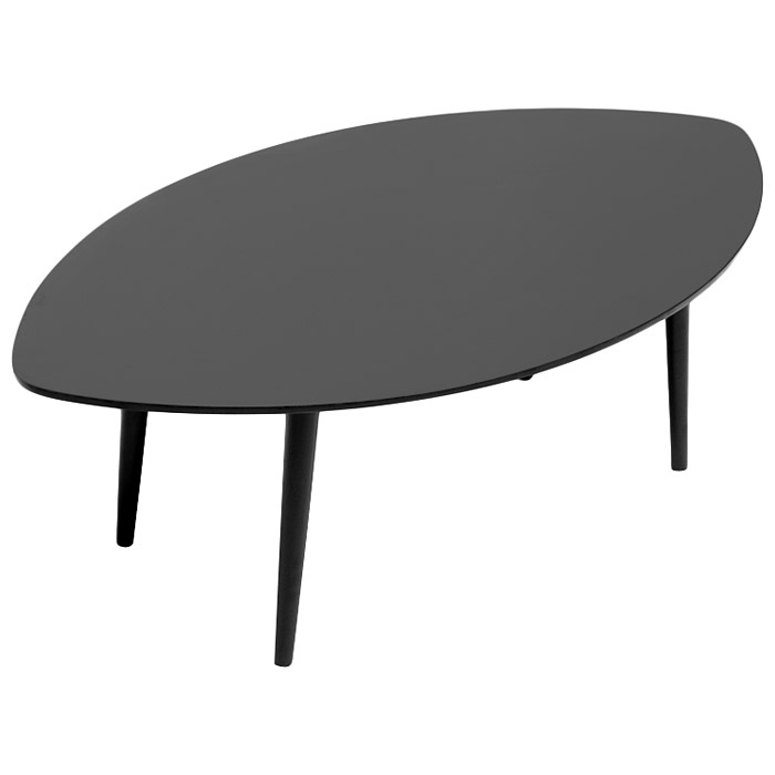 Griffith Wooden Coffee Table - Wenge, Leaf-Shaped Top - WI-TB807-WENGE-CT