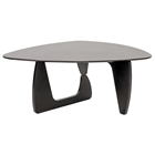 Hoover Noguchi Inspired Wooden Coffee Table - Wenge