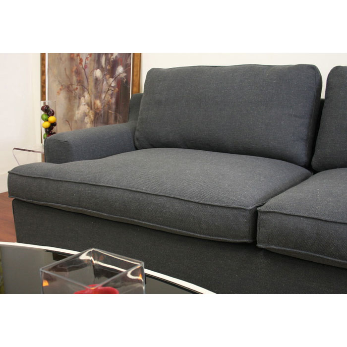 Kaspar Slate Grey Fabric Sectional with Chaise - WI-TD0905-AD066-3