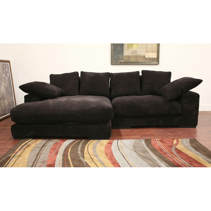 Panos Fabric Sectional with Reversible Chaise - WI-TD8312-HE03-050