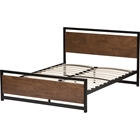 Gabby Wood Bed - Black, Walnut Brown