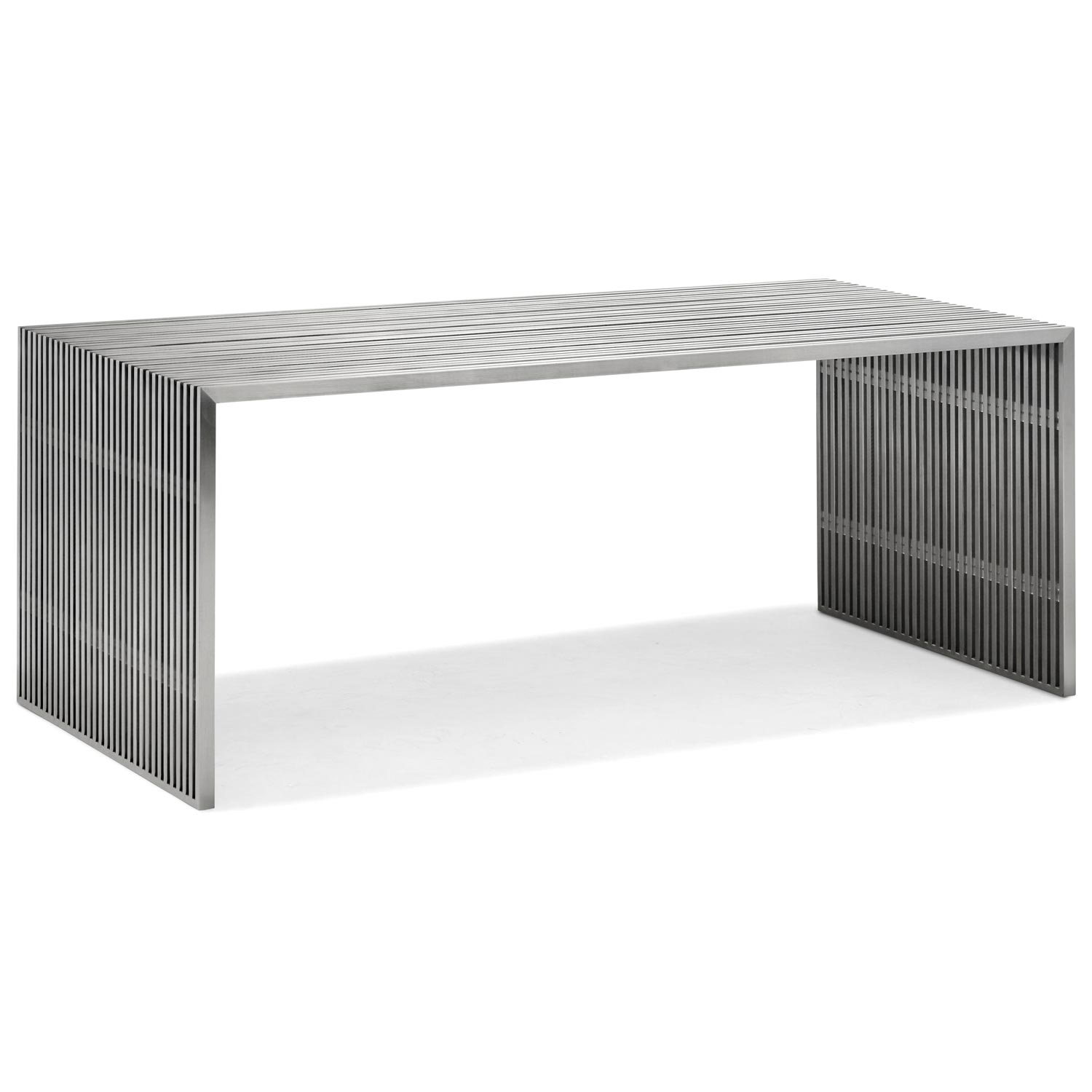 Novel Rectangular Dining / Office Table - Stainless Steel