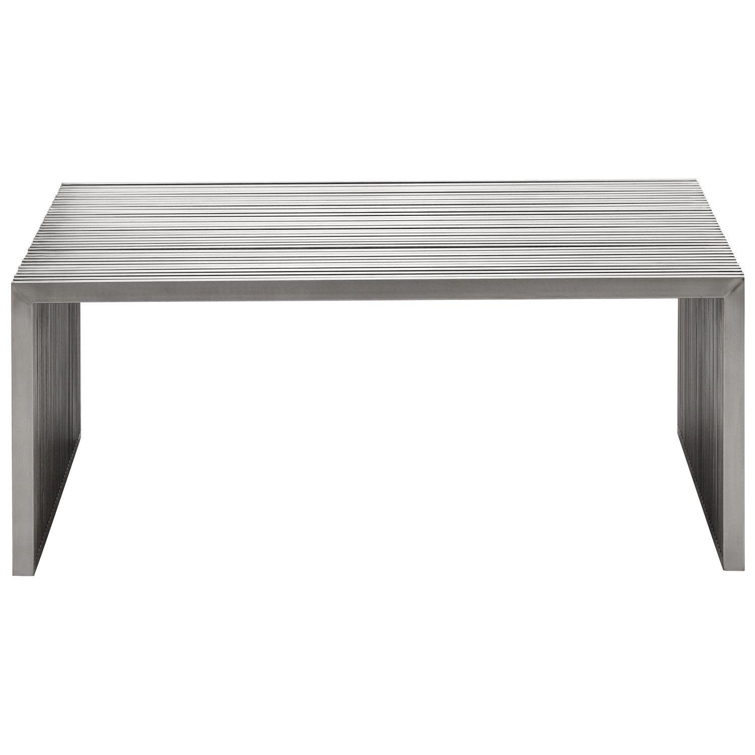 Novel Square Coffee Table - Stainless Steel - ZM-100084