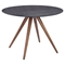 Grapeland Heights Dining Table - Walnut and Black - ZM-100094