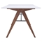 Saints Dining Table - Walnut and White - ZM-100143