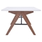 Saints Coffee Table - Walnut and White - ZM-100145