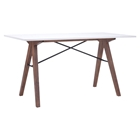 Saints Office Desk - Walnut and White