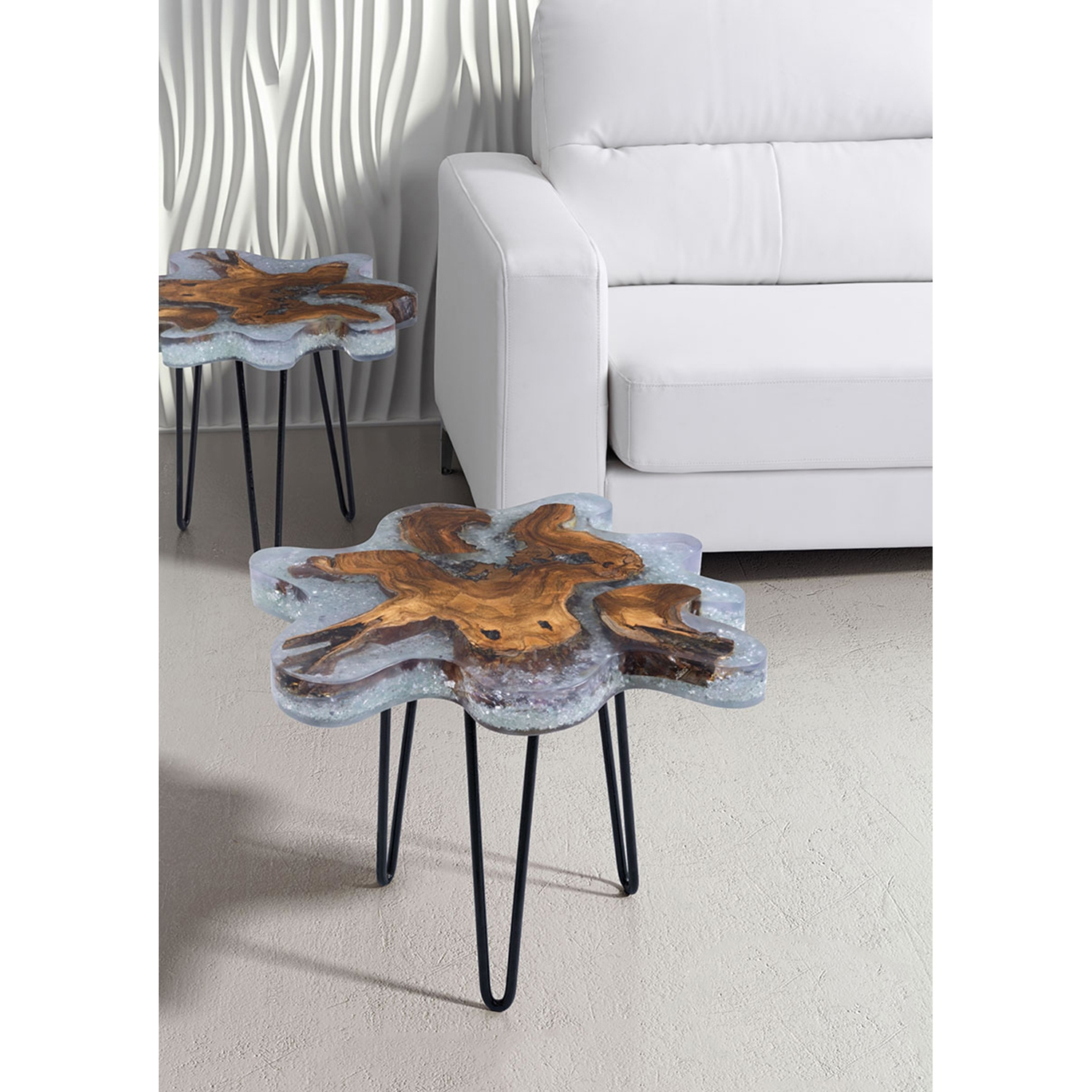 Jigsaw Side Table - Natural - ZM-100166