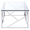 Cage Coffee Table - Glass Top, Stainless Steel - ZM-100179