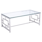 Geranium Coffee Table - Glass Top, Stainless Steel
