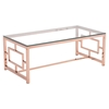 Geranium Coffee Table - Glass Top, Rose Gold