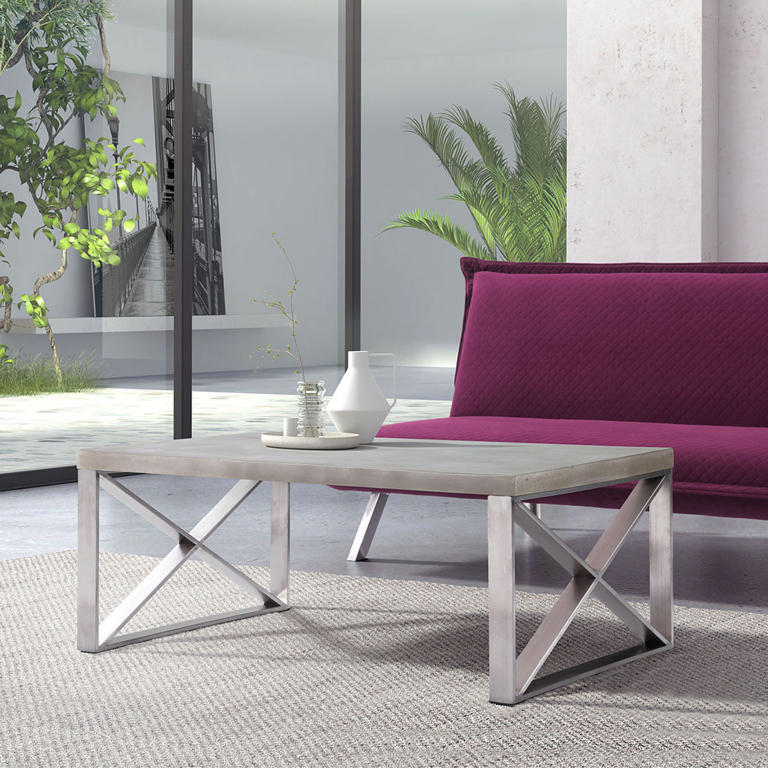 Paragon Coffee Table - Cement - ZM-100202