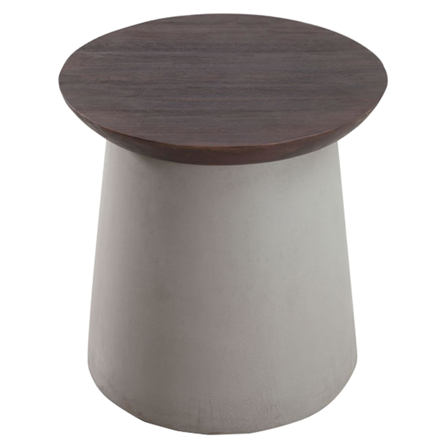Henge Side Table - Cement and Walnut