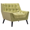 Nantucket Arm Chair - Tufted, Green Velvet