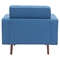 Puget Arm Chair - Tufted, Blue - ZM-100217