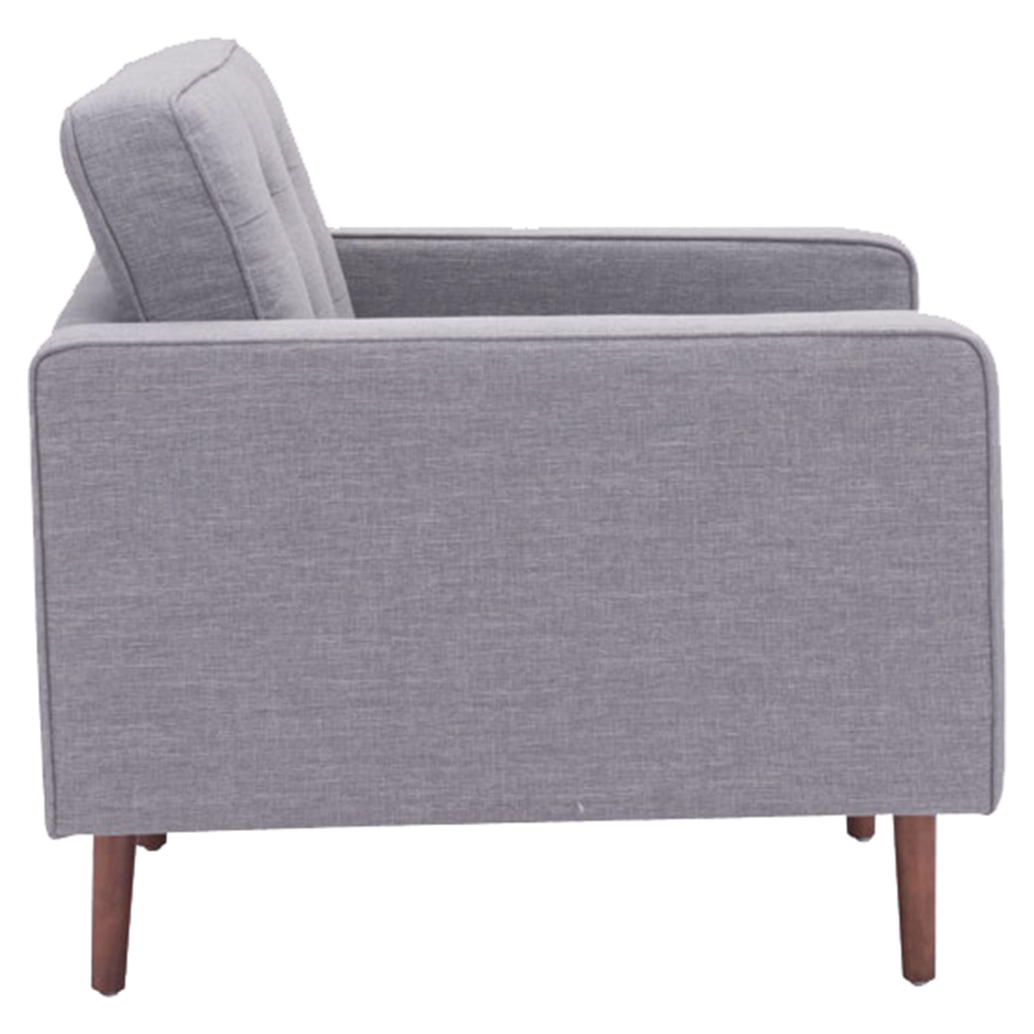 Puget Arm Chair - Tufted, Gray - ZM-100219