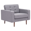 Puget Arm Chair - Tufted, Gray