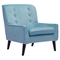Coney Tufted Arm Chair - Aqua Velvet - ZM-100223