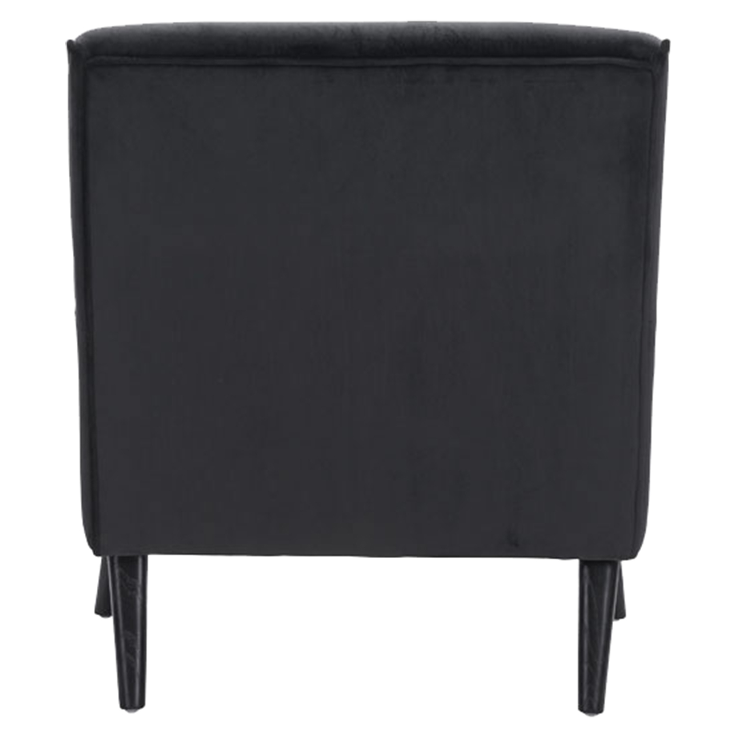 Coney Tufted Arm Chair - Black Velvet - ZM-100224