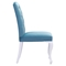 Bourbon Dining Chair - Blue Velvet - ZM-100225