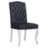 Bourbon Tufted Dining Chair - Black Velvet