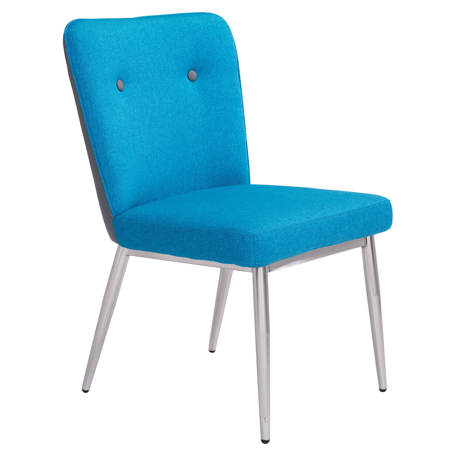 Hope Dining Chair - Tufted, Blue and Gray