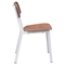 Cappuccino Dining Chair - White and Walnut - ZM-100245